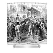 Grand Prix De Paris, 1870 Shower Curtain