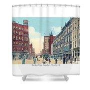 Grand Rapids - Michigan - Campau Square And Monroe Street - 1912 Shower Curtain