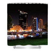 Grand Rapids Michigan At Dusk Shower Curtain