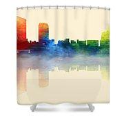 Grand Rapids Michigan Skyline 2 Shower Curtain
