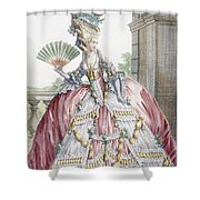 Grand Robe A La Francais, Engraved Shower Curtain