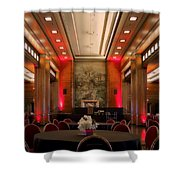 Grand Salon 01 Queen Mary Ocean Liner Shower Curtain