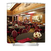 Grand Salon 03 Queen Mary Ocean Liner Shower Curtain