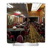 Grand Salon 04 Queen Mary Ocean Liner Shower Curtain