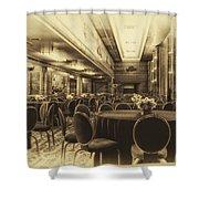 Grand Salon 05 Queen Mary Ocean Liner Heirloom Shower Curtain