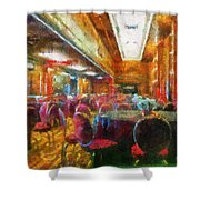 Grand Salon 05 Queen Mary Ocean Liner Photo Art 02 Shower Curtain