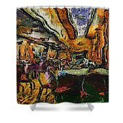Grand Salon 05 Queen Mary Ocean Liner Photo Art 04 Shower Curtain