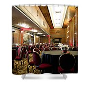 Grand Salon 05 Queen Mary Ocean Liner Shower Curtain