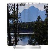 Grand Teton Framed By Cedars Shower Curtain