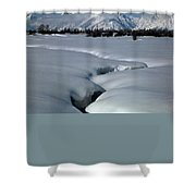 1m9304-grand Teton From Jackson Hole, Winter, H Shower Curtain