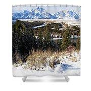 Grand Teton Landscape Shower Curtain