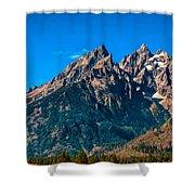 Grand Teton Mountain Shower Curtain