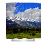 Grand Teton Mountains Shower Curtain