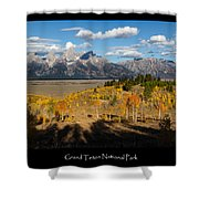 Grand Teton National Park Poster Shower Curtain