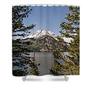 Grand Teton On Jenny Lake - Grand Teton National Park Wyoming Shower Curtain