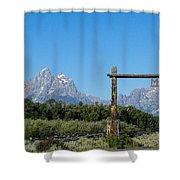Grand Teton Ranch Shower Curtain