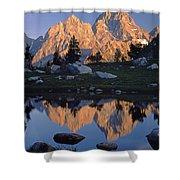 1m9376-grand Teton Reflect 2 Shower Curtain