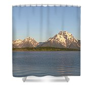 Grand Teton Sunrise Shower Curtain