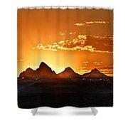 Grand Teton Sunrise Shower Curtain