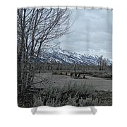Grand Tetons Landscape Shower Curtain