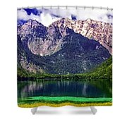 Grand Tetons National Park Painting Shower Curtain