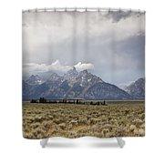 Grand Thunder - Grand Teton National Park - Wyoming Shower Curtain