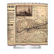 Grand Trunk Railway Map 1887 Shower Curtain