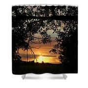 Grand Valley Sunset Shower Curtain