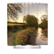 Grand Western Canal At Halberton  Shower Curtain