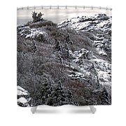 Grandfather Mountain's Linville Peak  Shower Curtain