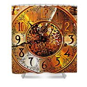 Grandfather Time Hdr Shower Curtain