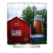 Grandfathers Barn Shower Curtain