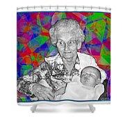 Grandma And Rose Shower Curtain