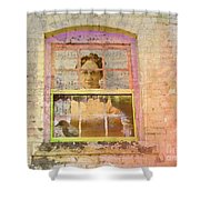Grandma At The Window Shower Curtain
