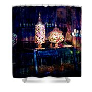 Grandma Daisy's Candy Store Shower Curtain by Gunter Nezhoda