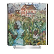 Grandma Higgins Corn Harvest Shower Curtain
