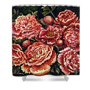 Grandma Lights Peonies Shower Curtain