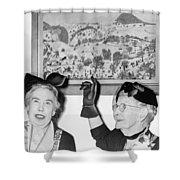 Grandma Moses Shower Curtain
