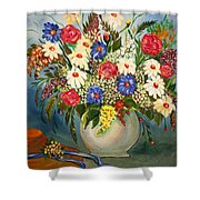 Grandma's Hat And Bouquet Shower Curtain