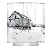 Grandpa's Barn Shower Curtain