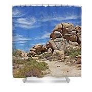 Granite Boulders In The Desert Shower Curtain