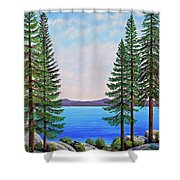 Granite Boulders Lake Tahoe Shower Curtain