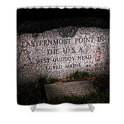 Granite Monument Quoddy Head State Park Shower Curtain