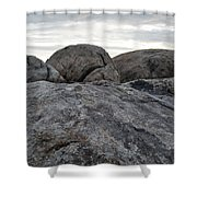 Granite Mountain Boulders Shower Curtain