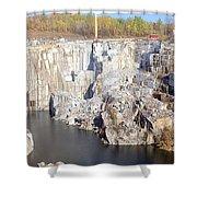 Granite Quarry, Barre, Vermont Shower Curtain