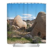 Granite Rock Formations Shower Curtain