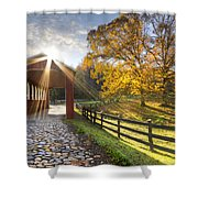 Granny Squirrel Bridge Shower Curtain