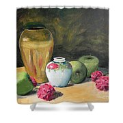Granny's Apples Shower Curtain