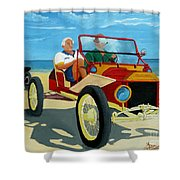 Granpas Racer Shower Curtain