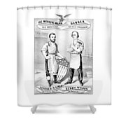 Grant And Wilson 1872 Election Poster  Shower Curtain